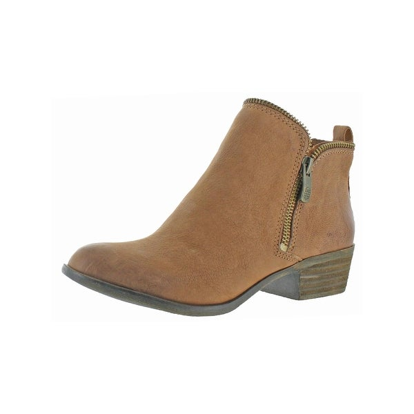 Vince Camuto Womens Bristin Booties Round Toe Stacked Heel
