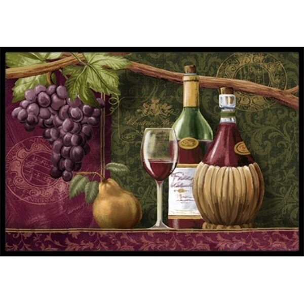 Carolines Treasures PTW2044MAT Wine Chateau Roma Indoor & Outdoor Mat 18 x 27 in.
