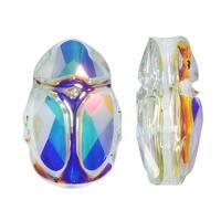 Swarovski Elements Crystal, 5728 Scarab Bead 12mm, 1 Piece, Crystal AB