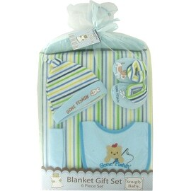 6 Piece Blanket Gift Set in Blue by Snugly Baby