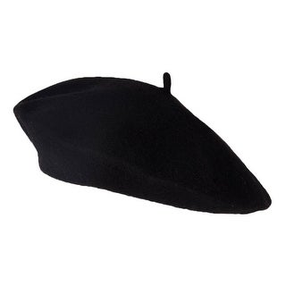 Wool Blend Fashion French Beret, Black