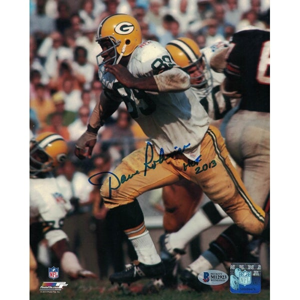 uk availability fc1b0 89fd8 Dave Robinson Autographed Green Bay Packers 8x10 Photo BAS