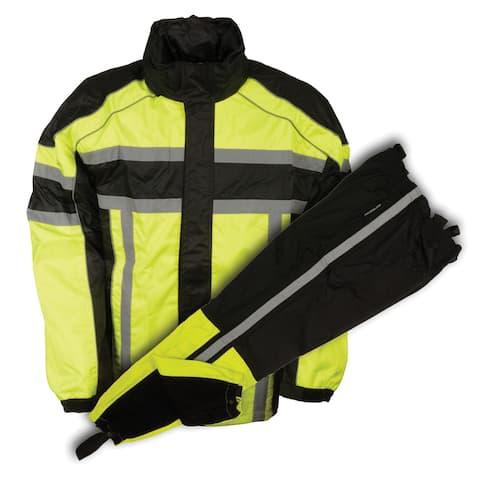 Mens Rain Suit Water Resistant - Reflective Tape