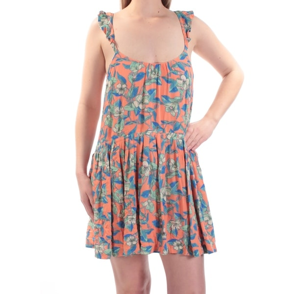 603ae44ecd6b Shop FREE PEOPLE Womens Orange Low Back Floral Sleeveless Scoop Neck Mini  Fit + Flare Dress Size  S - Free Shipping On Orders Over  45 - Overstock -  ...