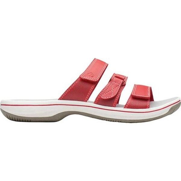 Shop Clarks Women's Brinkley Coast Slide Red Synthetic On