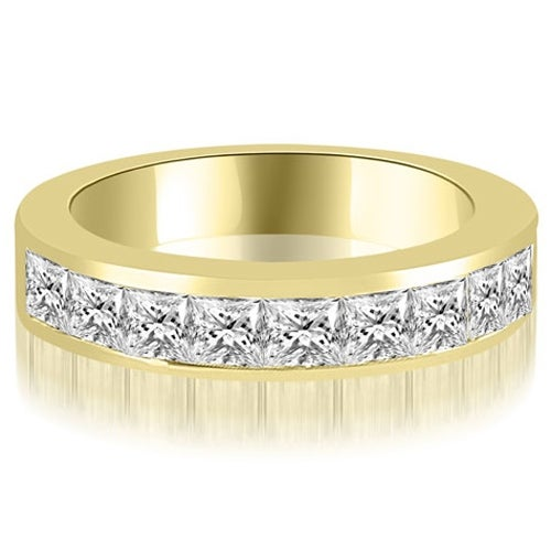 1.80 cttw. 14K Yellow Gold Princess Diamond 9-Stone Channel Wedding Band