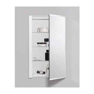 "Robern RC1626D4FB1 R3 16"" x 26"" x 4"" Beveled Single Door Medicine Cabinet with R"