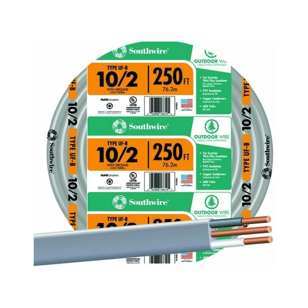 Southwire 13056755 Underground Feeder Cable With Ground 10 2