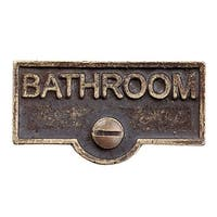 Switch Plate Tags BATHROOM Name Signs Labels Antique Brass | Renovator's Supply
