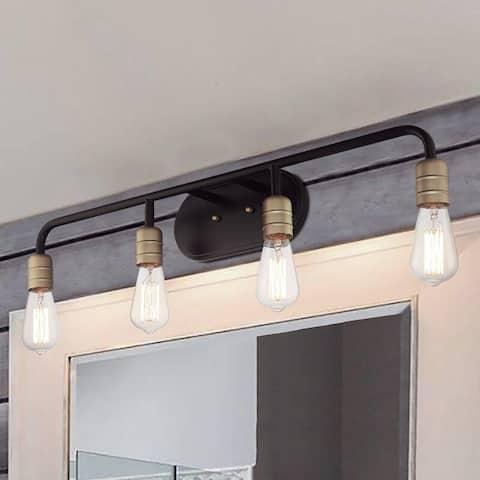4 Light 32 Inch Modern Farmhouse Rustic Bathroom Vanity Lights