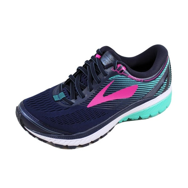 57c70e19a2a5b Shop Brooks Women s Ghost 10 Navy Pink-Teal Green 120246 1B 451 ...