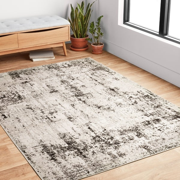 Alexander Home Keara Abstract Marble Distressed Contemporary Rug. Opens flyout.
