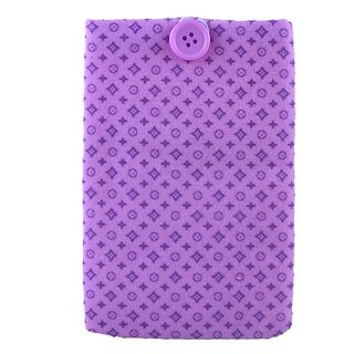 Unique Bargains Purple Circles Printed Nylon Lining Pouch Bag Holder for Mobile Phones