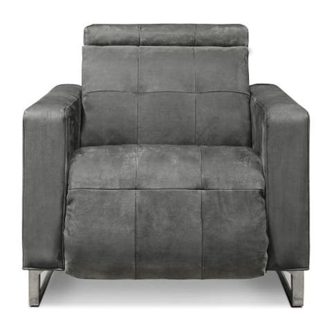 Casino Royale Leather Dual Powered Recliner Chair