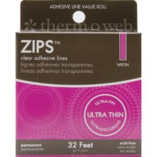 "Ultra Thin 1/8""X1/64"" Thick 32'/Pkg - Zips Clear Adhesive Lines"
