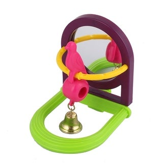 Plastic Frame Metal Bell Simulation Bird Toy Decoration Multicolor