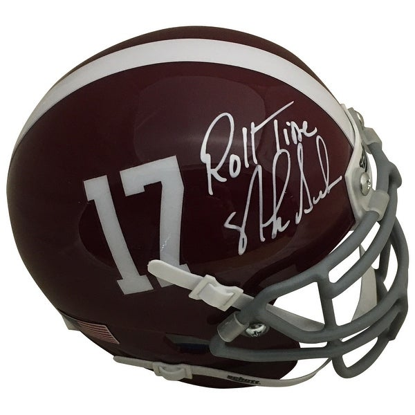 3dc7607b Nick Saban Autographed Alabama Crimson Tide Signed Football Mini Helmet  ROLL TIDE PSA DNA COA