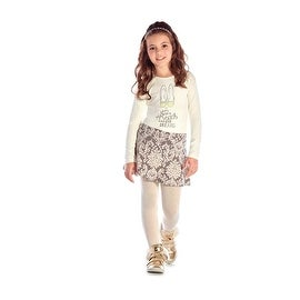 Girls Outfit Long Sleeve Shirt and Skort Set Kids Clothes Pulla Bulla 2-10 Years