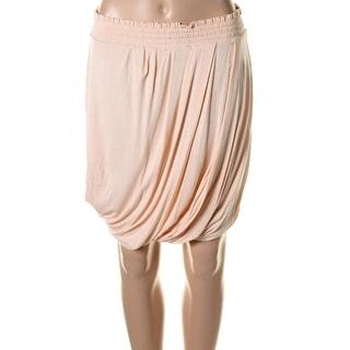 Catherine Malandrino Womens Jersey Ruched Straight Skirt - S