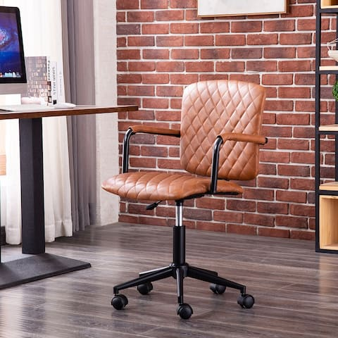 Porthos Home Nels Adjustable PU Leather Swivel Office Chair