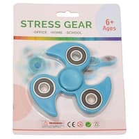 Stress Gear Boys Girls Turquoise Black Flame Fidget Spinner Concentration Toy
