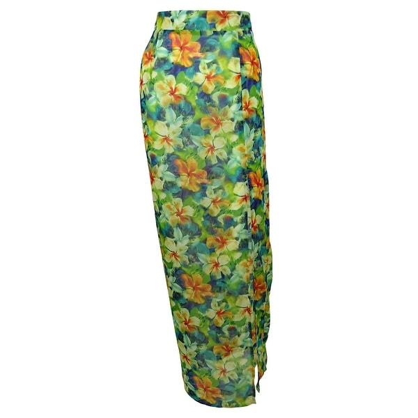Miken Women's Print Maxi Skirt Dress Swin Cover ups
