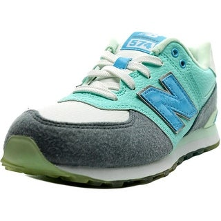 New Balance KL574 Youth W Round Toe Synthetic Gray Sneakers