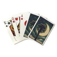 SC - Palmetto Moon & Palm - LP Artwork (Poker Playing Cards Deck)