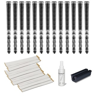 Golf Pride New Decade Multicompound (MCC) Black - 13 pc Golf Grip Kit (with tape, solvent, vise clamp)