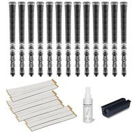 Golf Pride New Decade Multicompound (MCC) Midsize Black - 13 pc Golf Grip Kit (with tape, solvent, vise clamp)