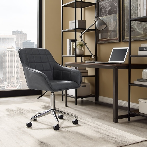 Art Leon 360 degree Swivel Home Office Chair with Caster. Opens flyout.