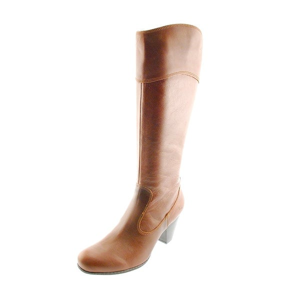 B.O.C Womens Stessy Leather Almond Toe Knee High Fashion Boots