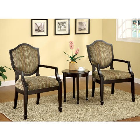 Furniture of America Itla Transitional 3-piece Table Set with 2 Chairs