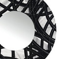 Statements2000 Black / Silver Metal Decorative Wall-Mounted Mirror by Jon Allen - Mirror 108 - Thumbnail 5