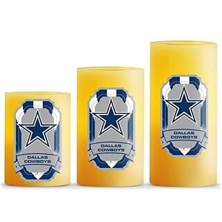Dallas Cowboys Flameless LED Candles-Set of 3