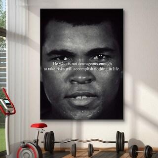 IKONICK Take Risks - Muhammad Ali Canvas Art
