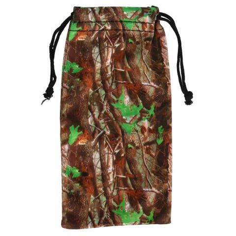 CTM® Camouflage Print Glasses Case Pouch with Drawstring Closure - one size