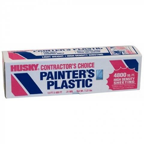 Husky 03512H Painter's Plastic, 12' x 400', Clear