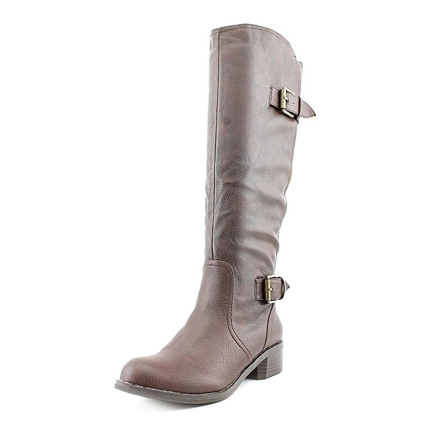 Style & Co. Womens Derbey Almond Toe Knee High Riding Boots
