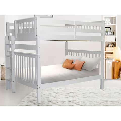 Taylor & Olive Trillium Full over Full Bunk Bed with End Ladder