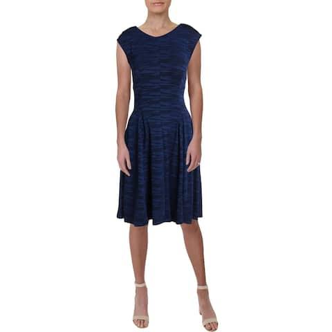 Gabby Skye Womens Wear to Work Dress Jacquard Cap Sleeve
