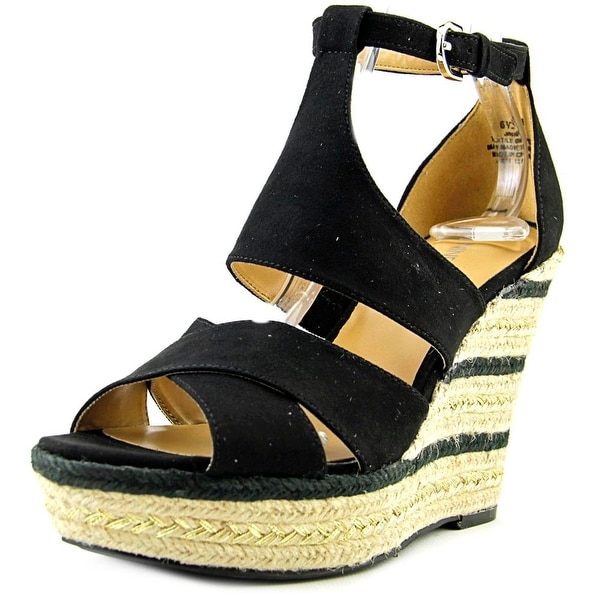 Nine West Jinio Women Open Toe Canvas Wedge Sandal