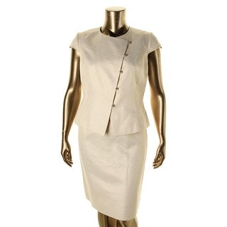Tahari ASL Womens Carl Metallic 2PC Skirt Suit - 10