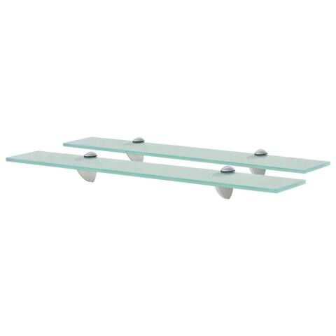 "vidaXL Floating Shelves 2 pcs Glass 2.6""x3.9"" 0.3"""