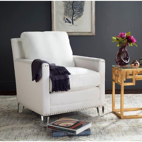 """SAFAVIEH Jensen White/ Clear Club Chair - 28.7"""" x 33.1"""" x 32.3"""""""