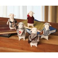 Felted Wool Cute And Decorative Sheep - Set Of 5 - multi