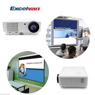 EXCELVAN Home Theater LCD Projector 1080P Multimedia VGA AV HDMI USB Analog TV - White