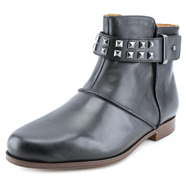 Earthies Treano Women Round Toe Leather Black Ankle Boot