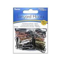 Darice JD Lanyard Hook Astd Metallic 75pc