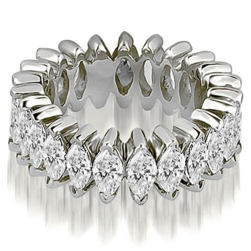 5.75 cttw. 14K White Gold Marquise Diamond Eternity Ring